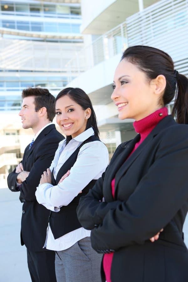 Mann-und Frauen-Geschäfts-Team stockfotografie