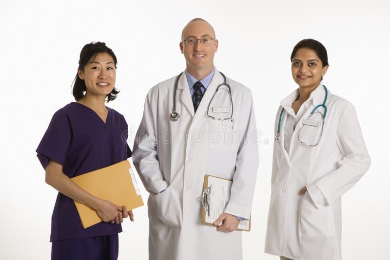 Mann- und Frauendoktoren. stockfoto