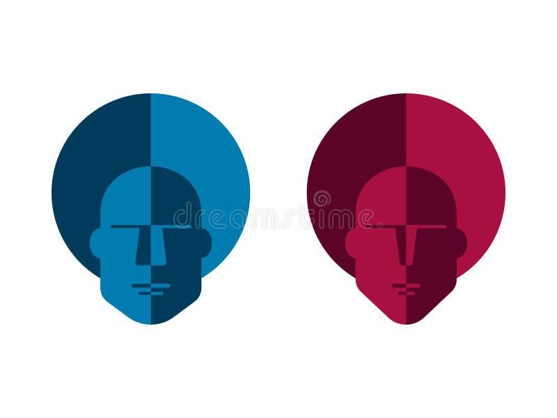 Mann- und Frauenfarbzeichen lizenzfreie abbildung