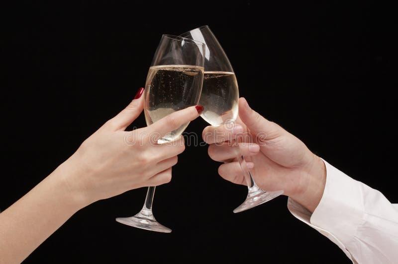 Mann- und Frauenfeiern   lizenzfreie stockfotos