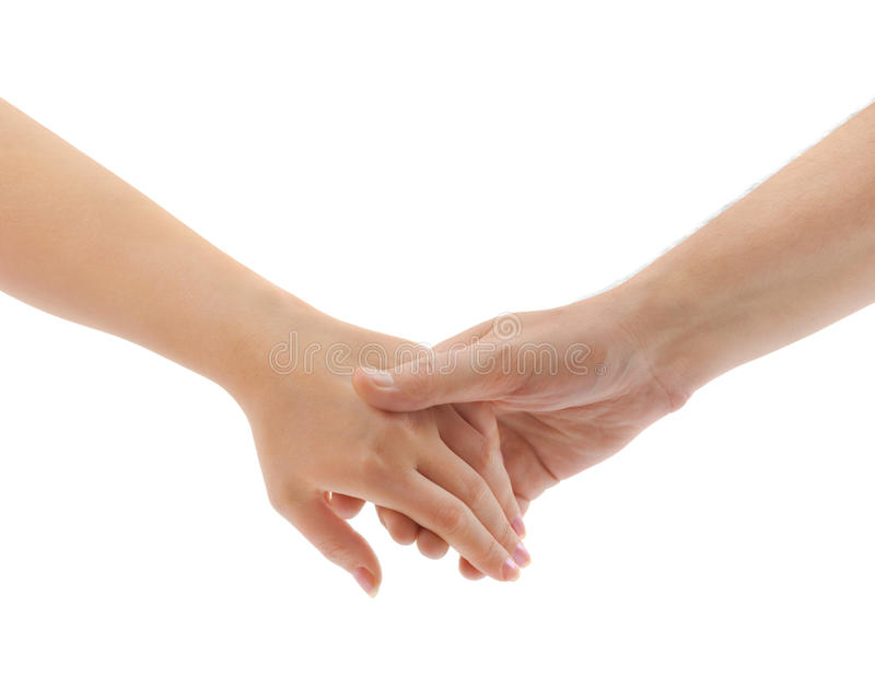 Mann- und Frauenhände lizenzfreie stockbilder