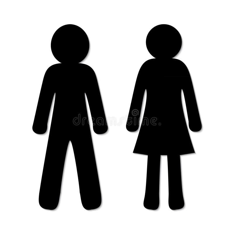Mann- und Frauenikonen stock abbildung