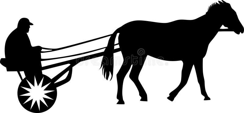 Mann- und Pferdenschattenbild   vektor abbildung