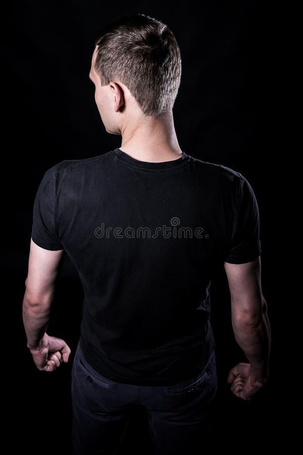 Mann von der Rückseite lizenzfreie stockfotos