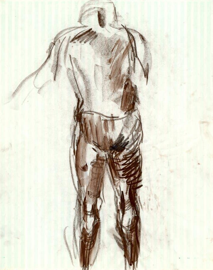 Mann von hinten stock abbildung