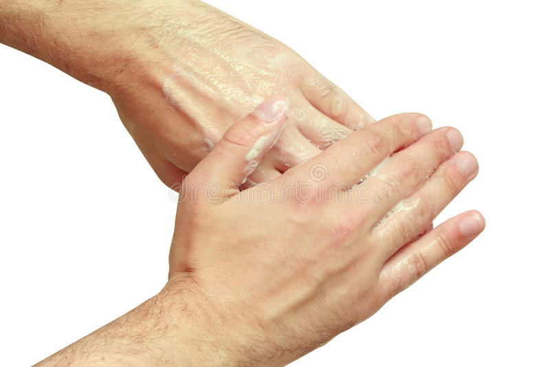 Download Mann wäscht seine Hände stockbild. Bild von gesundheit - 12202107
