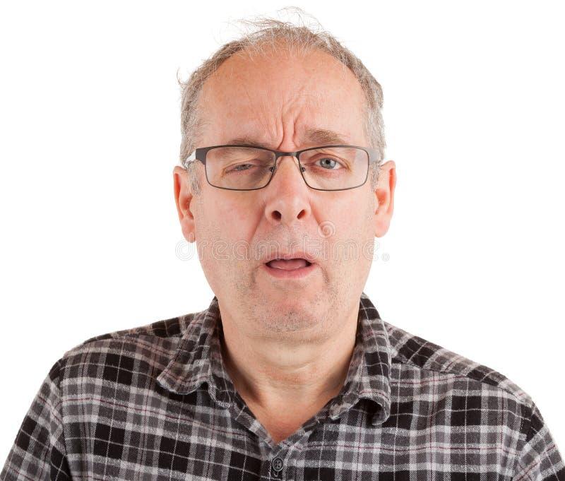 Mann zögert lizenzfreie stockbilder