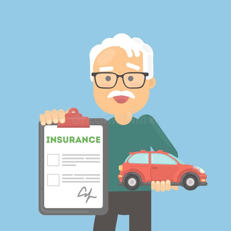 Download Mann Zeigt Autoversicherung Vektor Abbildung - Illustration von karikatur, abbildung: 90226012