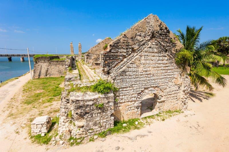 Mannar堡垒,斯里兰卡 免版税库存照片