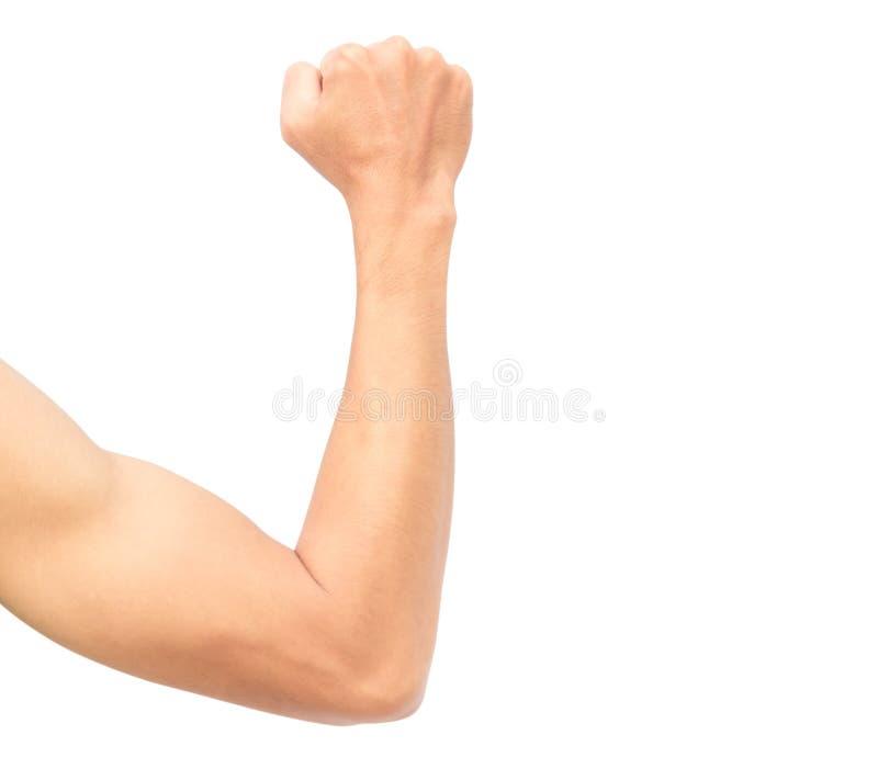 Mannarm stark mit dem Muskel lizenzfreies stockbild