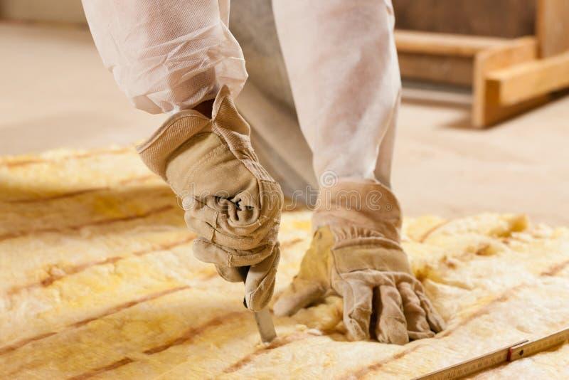 Mannausschnitt-Isolierungsmaterial für Gebäude lizenzfreies stockbild