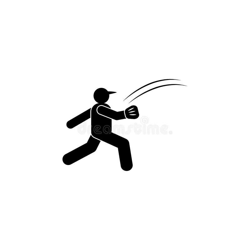 Mannballlaufsport Glyphikone r Zeichen und Symbole k?nnen f?r Netz, Logo, Mobile verwendet werden vektor abbildung