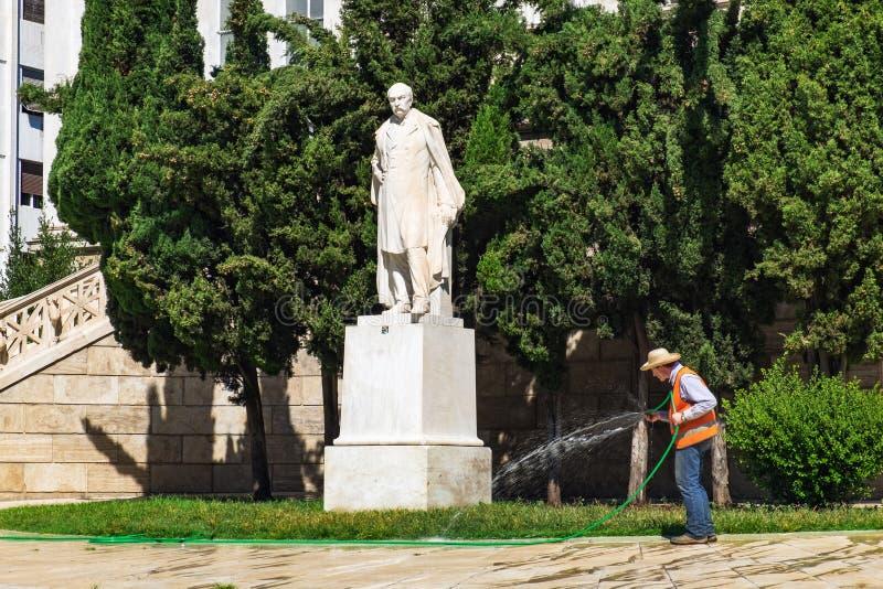 Mannbewässerungsanlagen, Nationalbibliothek von Griechenland stockbild