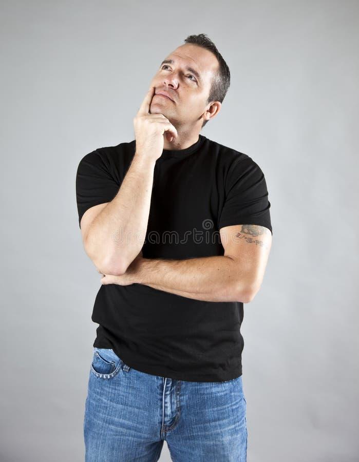 Manndenken lizenzfreie stockbilder