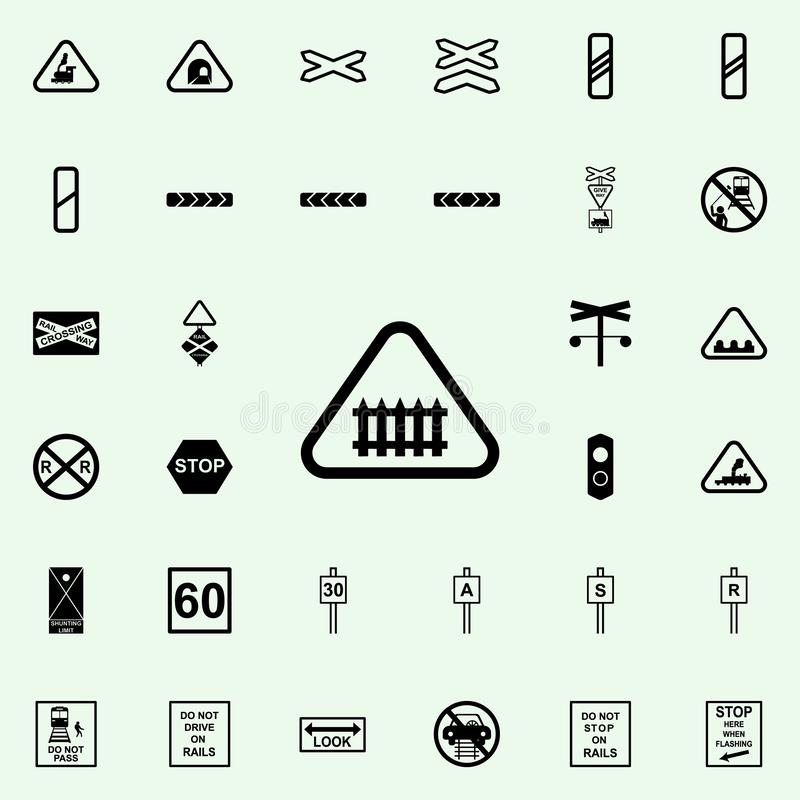 Manned level icon. Railway Warnings icons universal set for web and mobile. On colored background vector illustration
