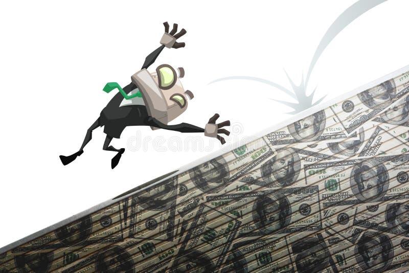 Mannedgång av pengar royaltyfri illustrationer