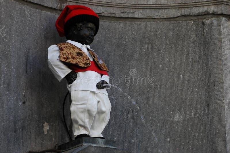Manneken Pis à Bruxelles photos libres de droits