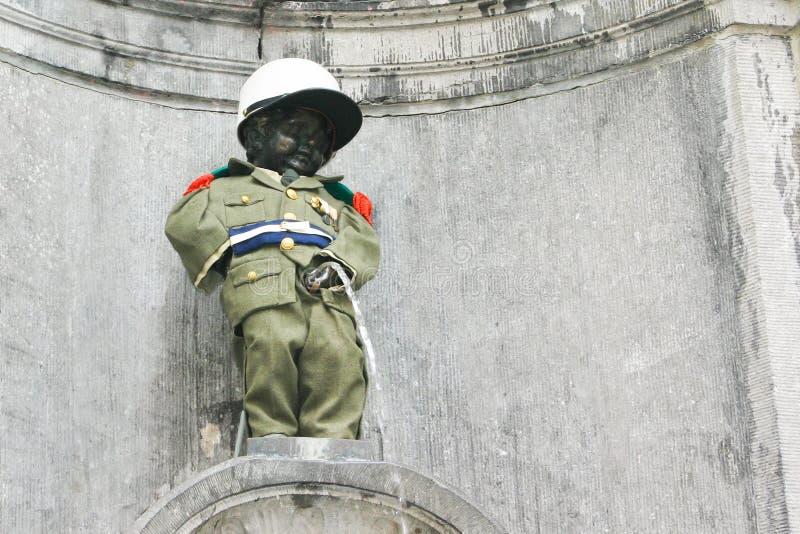 Manneken Pis à Bruxelles, Belgique image stock