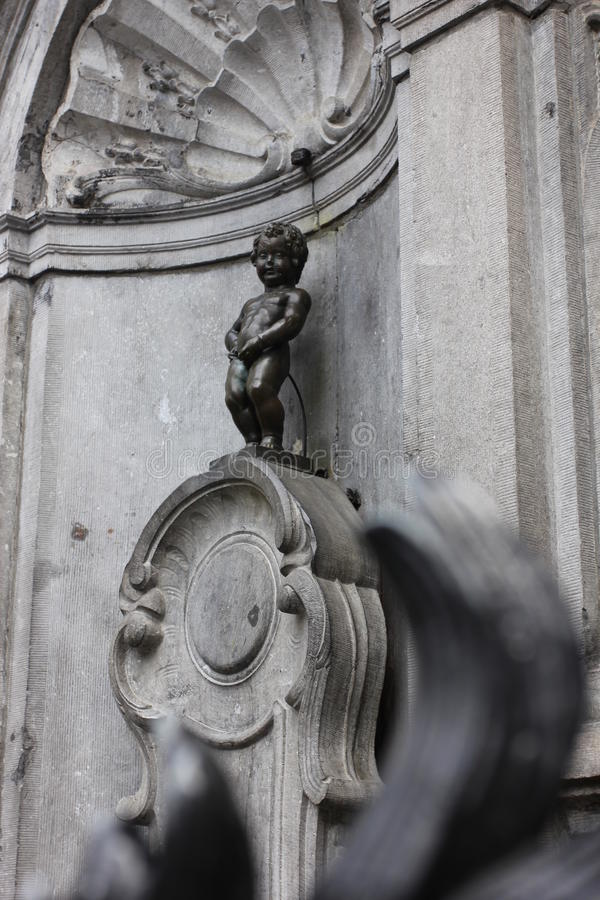Manneken Pis statue in Brussels, Belgium stock photo