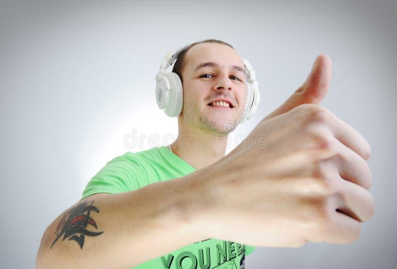 Mannelijk DJ stock afbeeldingen