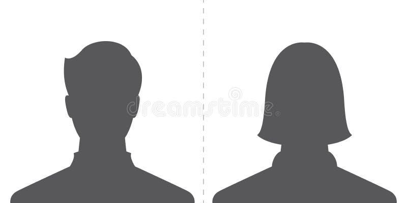 Mannelijk en vrouwelijk profielbeeld royalty-vrije illustratie