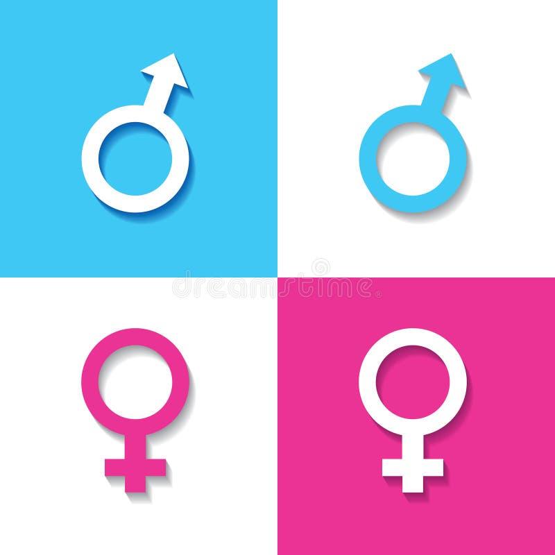Mannelijk en vrouwelijk symbool royalty-vrije illustratie