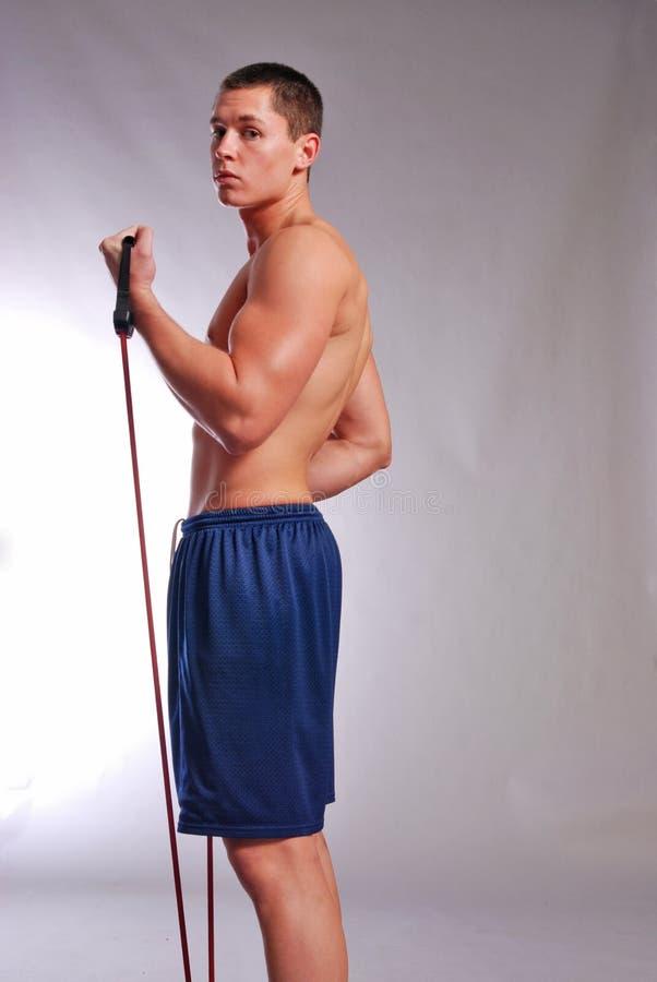 Mannelijk geschiktheidsmodel stock foto's