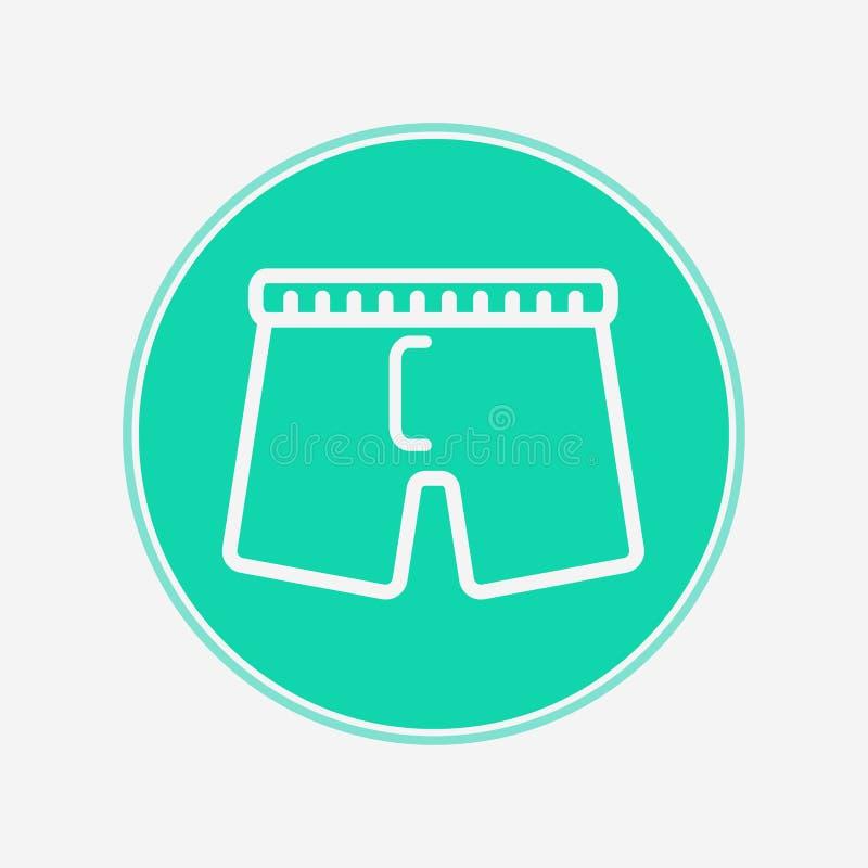 Mannelijk het tekensymbool van het ondergoed vectorpictogram stock illustratie