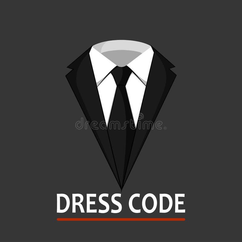 Mannelijk kostuumconcept bedrijfsstijlkleren stock illustratie