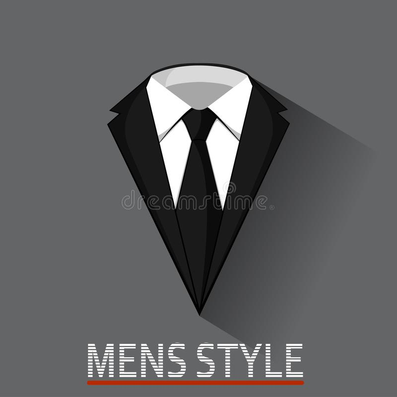 Mannelijk kostuumconcept bedrijfsstijlkleren vector illustratie