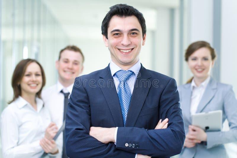 Mannelijk leider en team royalty-vrije stock afbeeldingen