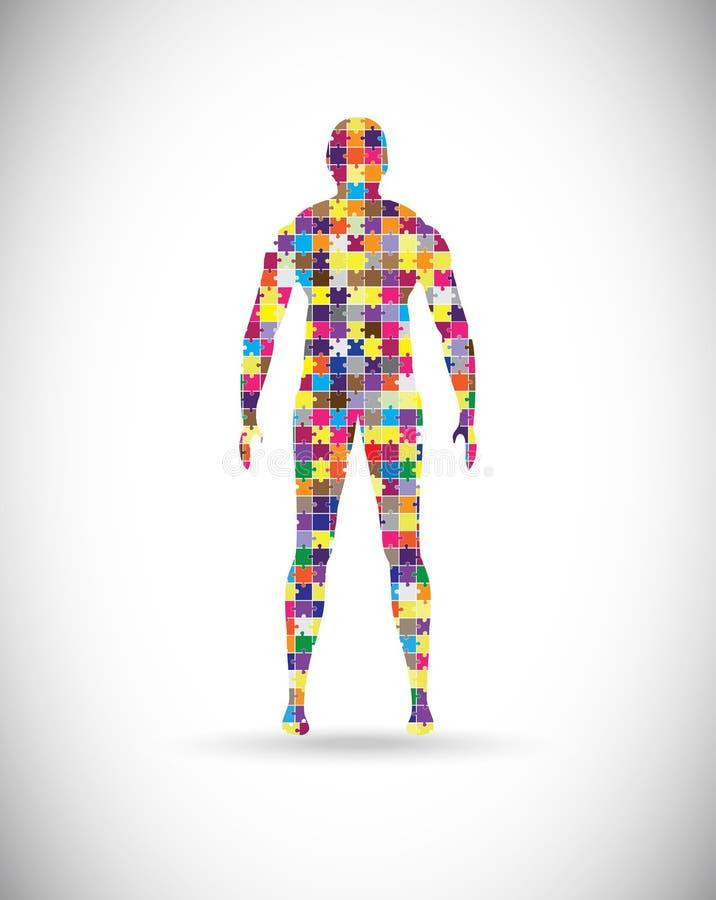 Mannelijk lichaam vector illustratie