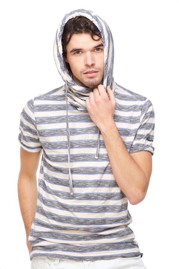 Mannelijk Model met Sweatshirt Met een kap royalty-vrije stock foto's