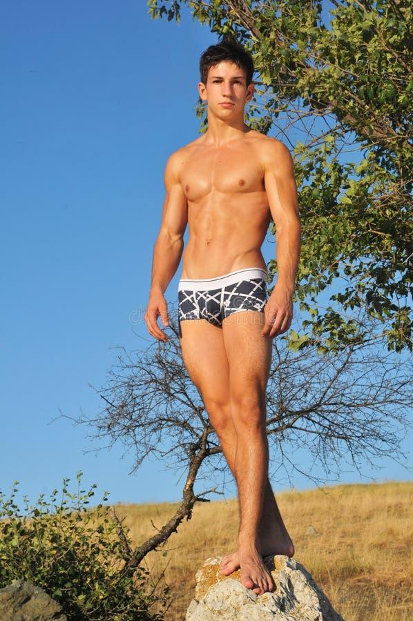 Mannelijk modelleringsondergoed royalty-vrije stock fotografie