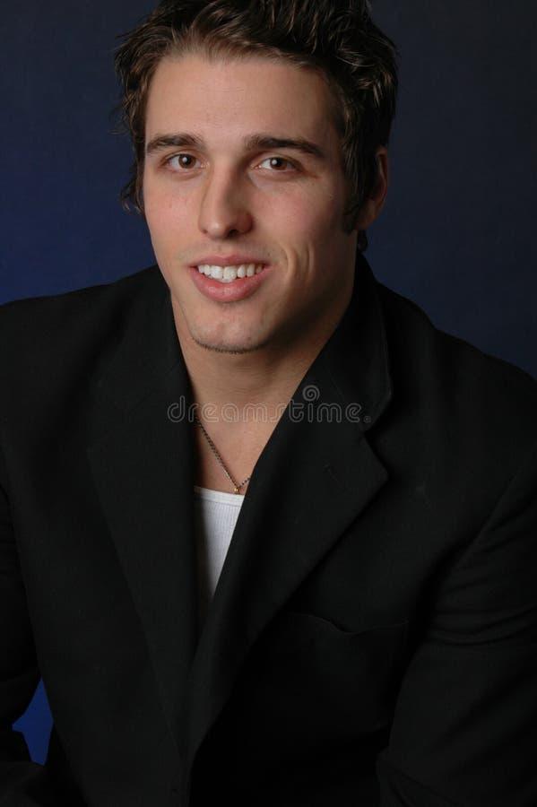 Mannelijk portret met glimlach royalty-vrije stock fotografie