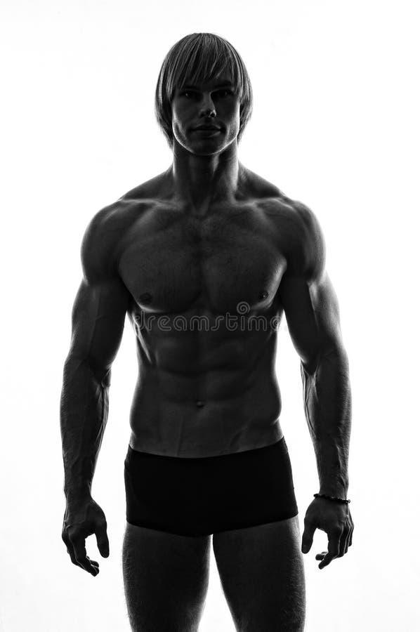 Mannelijk silhouet royalty-vrije stock foto's