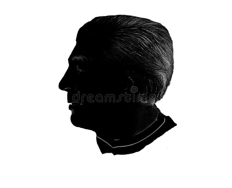 Download Mannelijk Silhouet stock afbeelding. Afbeelding bestaande uit koning - 34341