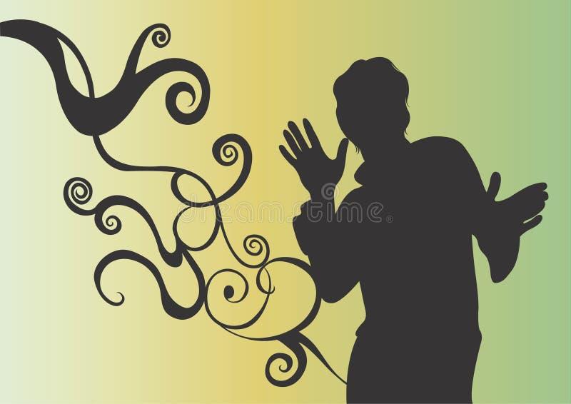 Mannelijk silhouet stock illustratie