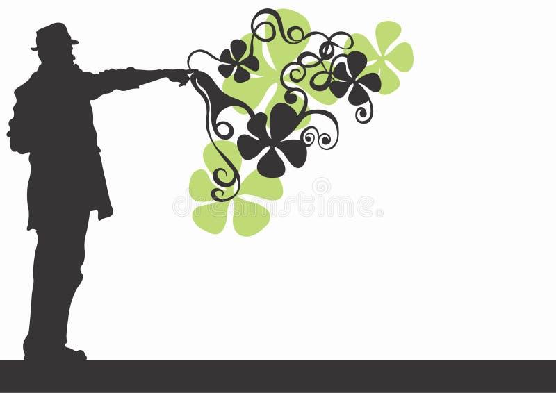 Mannelijk silhouet royalty-vrije illustratie