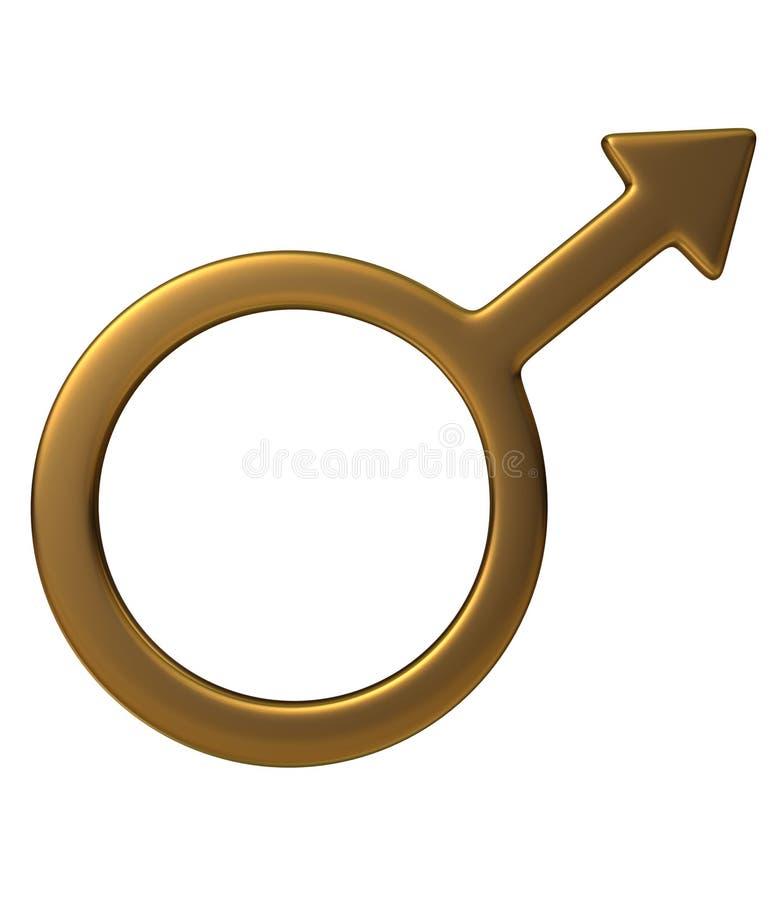 Mannelijk symbool stock illustratie