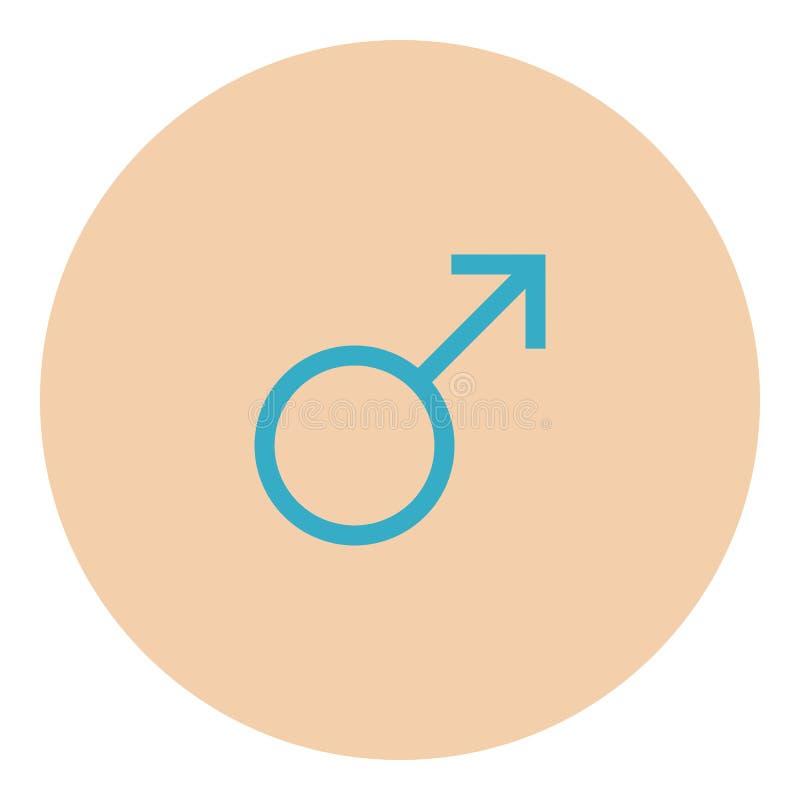 Mannelijk symboolpictogram stock illustratie