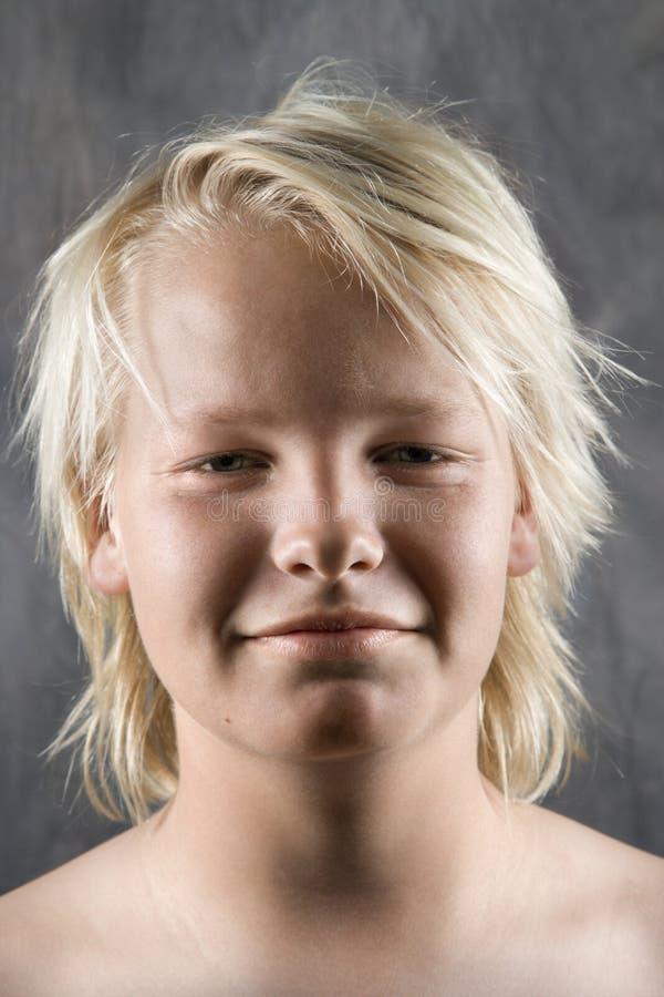 Mannelijk tienerportret royalty-vrije stock afbeelding