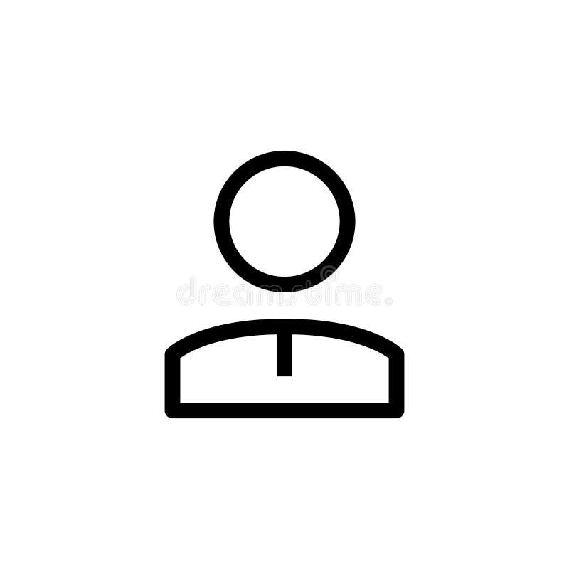 Mannelijk van de het ontwerppersoon van het werknemerspictogram de beambtesymbool de eenvoudige schone vector van het de bedrijfs royalty-vrije illustratie