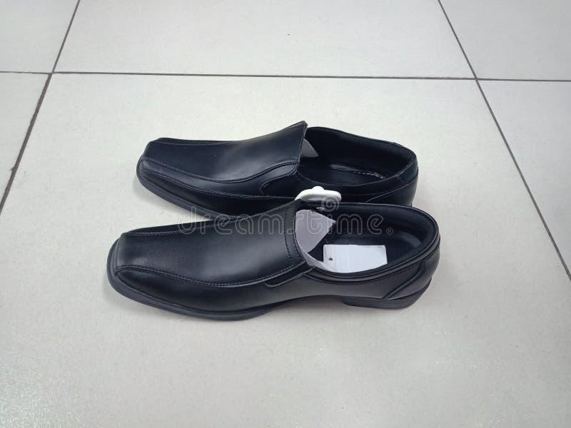 Mannelijk Zwart Schoenenkwaliteit Geïsoleerd Product stock fotografie