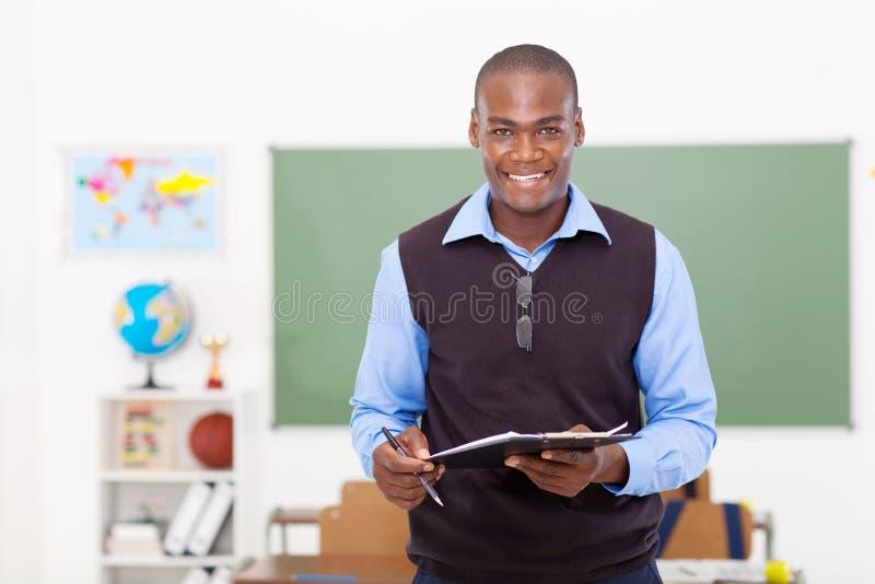 Mannelijke Afrikaanse leraar royalty-vrije stock afbeeldingen