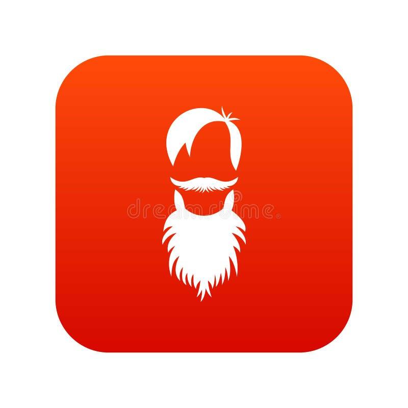 Download Mannelijke Avatar Met Het Digitale Rood Van Het Baardpictogram Vector Illustratie - Illustratie bestaande uit zakenman, manager: 107708851