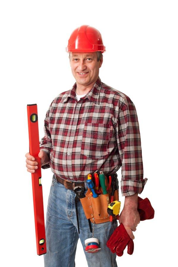 Mannelijke bouwvakker royalty-vrije stock afbeelding