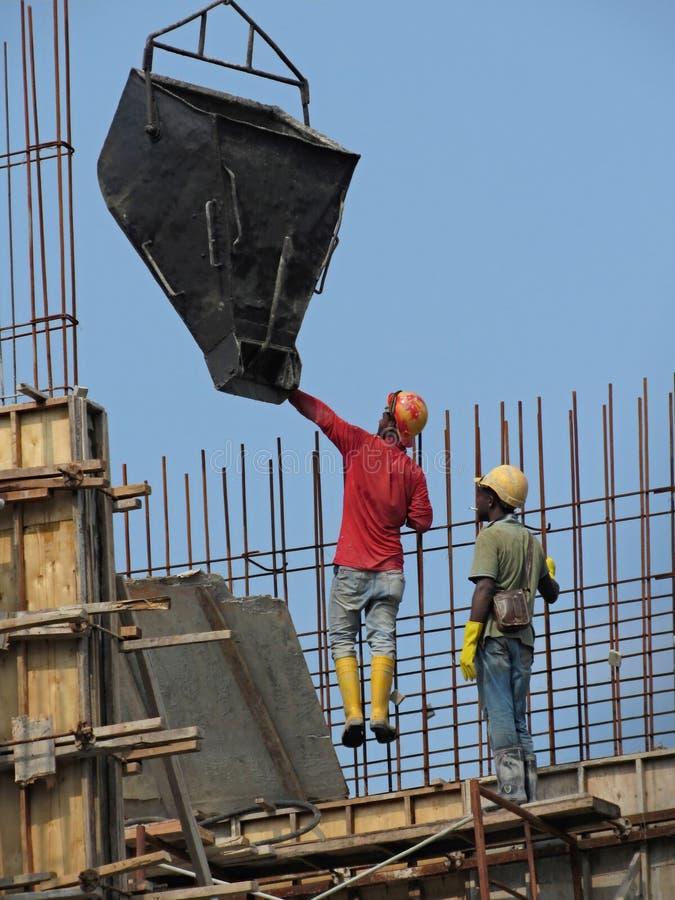 Mannelijke Buitenlandse Migrerende werknemers in Maleisië royalty-vrije stock foto