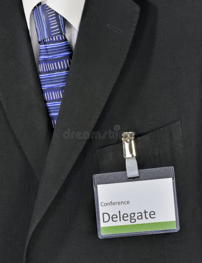Mannelijke conferentieafgevaardigde stock fotografie