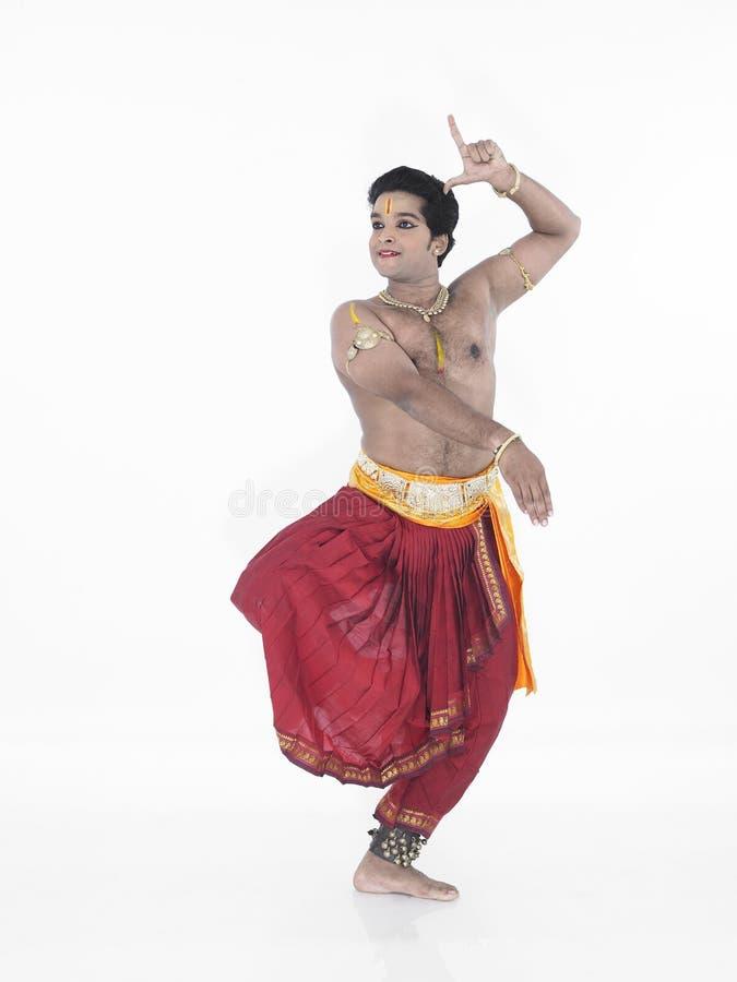 Mannelijke danser van India stock afbeelding